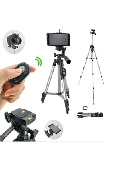 Profesyonel Fotoğraf Video Çekimi Bluetooth Uzaktan Kumandalı 106 Cm Tripot Telefon Tutucu