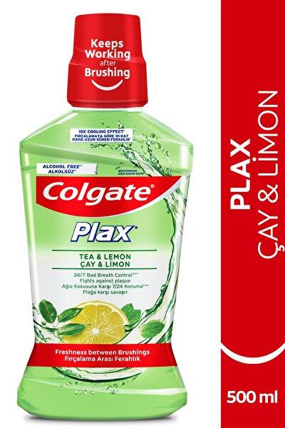 Plax Çay ve Limon Plağa Karşı Alkolsüz Ağız Bakım Suyu 500 ml