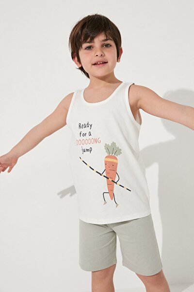 Erkek Çocuk Çok Renkli Veg-t Long Jump Pijama Takımı 2li