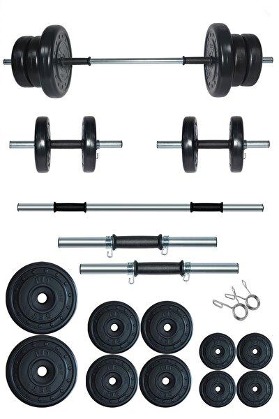 55 kg Kombo Halter Seti Ve Dambıl Seti Ağırlık Fitness Seti