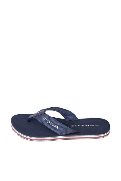 Kadın Mavi Terlik Tommy Stripes Flat Beach Sandal FW0FW05666