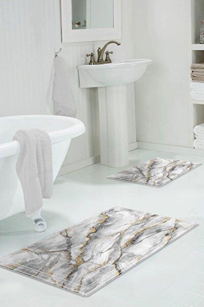 60x90 - 50x60 Sis Dijital Banyo Paspası 2'li Klozet Takımı
