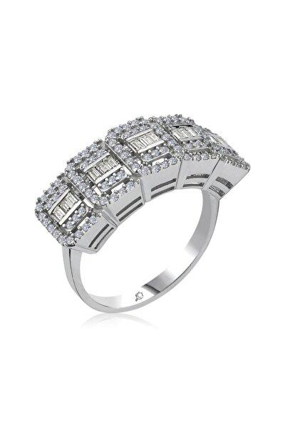Kadın Crystal Beştaş Gümüş Yüzük