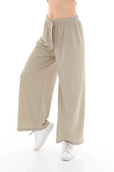 Kadın Bürümcük Bol Paça Pantolon