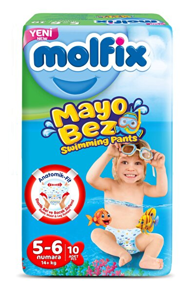Mayo Bebek Bezi Swimming Pants 5-6 Beden 10 Adet 14+ Kg