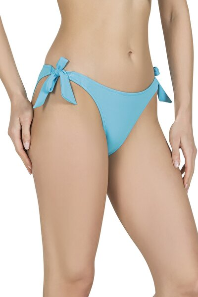 Kadın Kalın Bağcıklı Mavi Bikini Altı