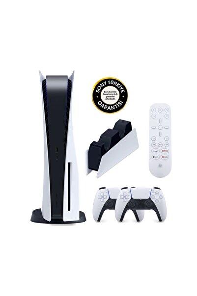 Playstation 5 Oyun Konsolu + 2. Ps5 Dualsense + Şarj Istasyonu + Medya Kumandası