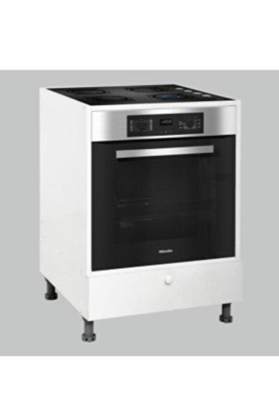 Beyaz Ankastre Düz Çekmeceli Kapaklı Modül Mutfak Dolabı