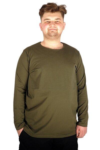 Erkek T-shirt Bisiklet Yaka 18102 Haki