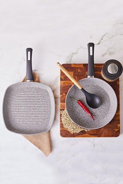 Gris Bio Granit Tava ve Grill Seti