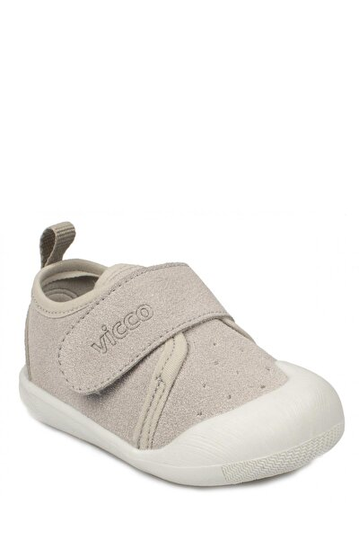 Unisex Çocuk Gri İlk Adım Ayakkabısı
