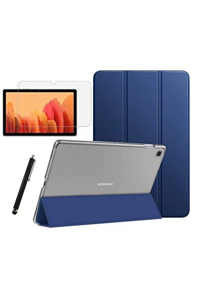 Galaxy Tab A7 T500 T505 T507 Uyumlu Smart Cover Tablet Kılıfı + Ekran Koruyucu + Kalem