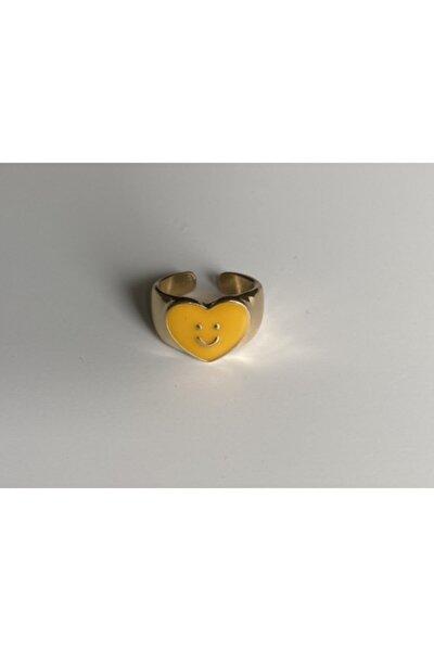 Sarı Smiley Gold Yüzük