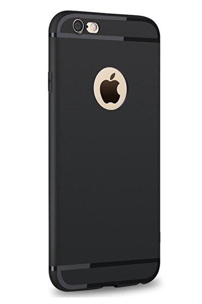 Iphone 6 / 6s Uyumlu Kılıf Ultra Ince Tıpalı Siyah Silikon Kılıf