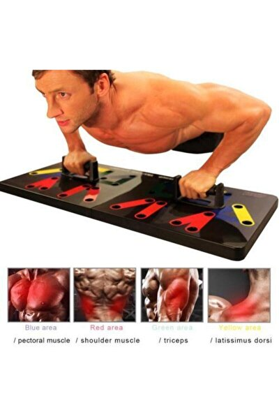 Şınav Çalışma Platformu Tahtası Fitness Spor Kondisyon 9in1