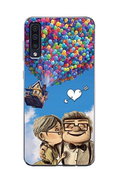 Samsung Galaxy A50 Yukarı Bak Şeffaf Telefon Kılıfı