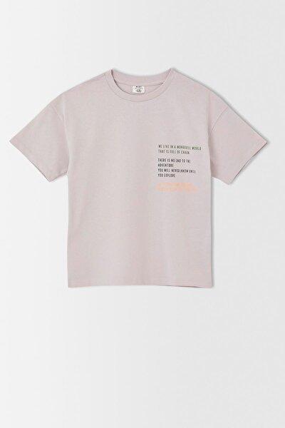 Erkek Çocuk Oversize Sırt Baskılı Kısa Kollu Tişört