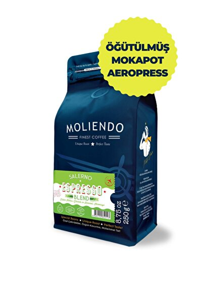 Moliendo Salerno Espresso Blend Kahve ( Öğütülmüş Mokapot-aeropress )