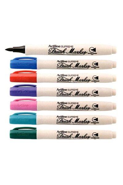 Supreme Brush Marker Fırça Uçlu Kalem 7 Renk Set