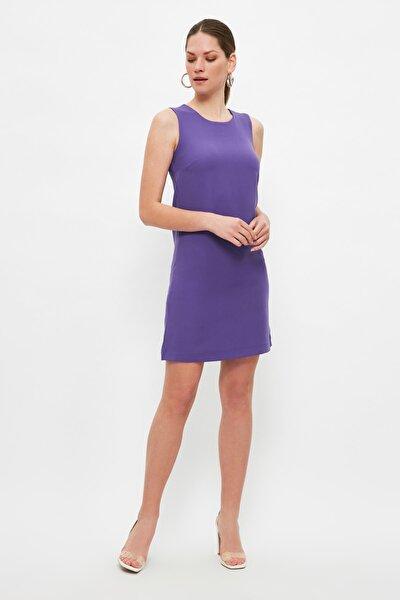 Mor Basic Kolsuz Elbise TWOSS19FG0063