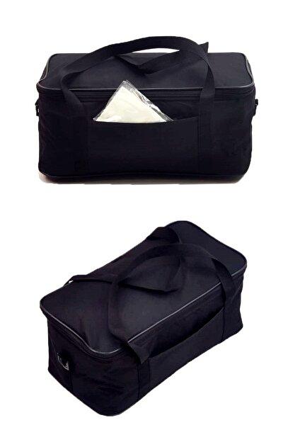 Shelay 18lt Siyah 42*18*22 Otomobil Bagaj Düzenleyici Gıda Taşıyıcı Soğutucu Piknik Kamp Çantası