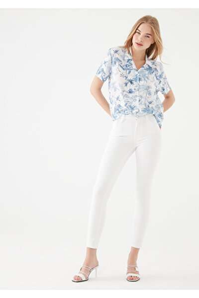 Kadın Tess Gold Beyaz Jean Pantolon 100328-28143