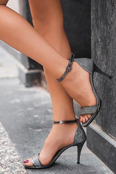 Kadın Platin Sim Topuklu Ayakkabı Artı-artı029-5003
