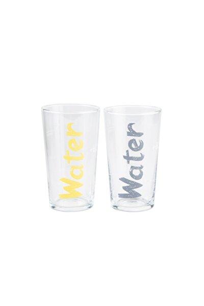 Water Bardak 570 Ml 2'li Set - Sarı &gri