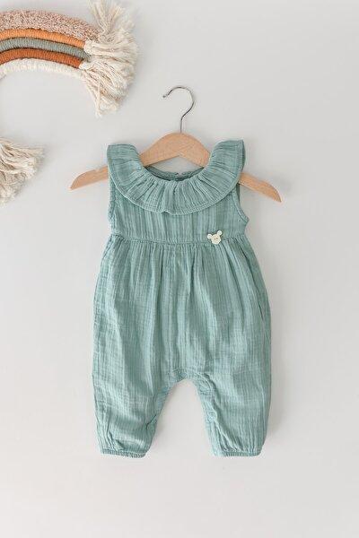 Kız Bebek Müslin Tulum (mint)