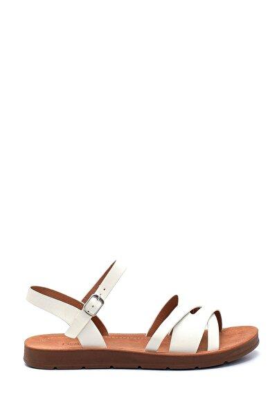 Kadın Beyaz Casual Sandalet
