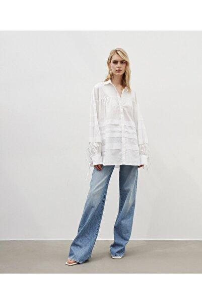 Kadın Beyaz Oversize Tunik