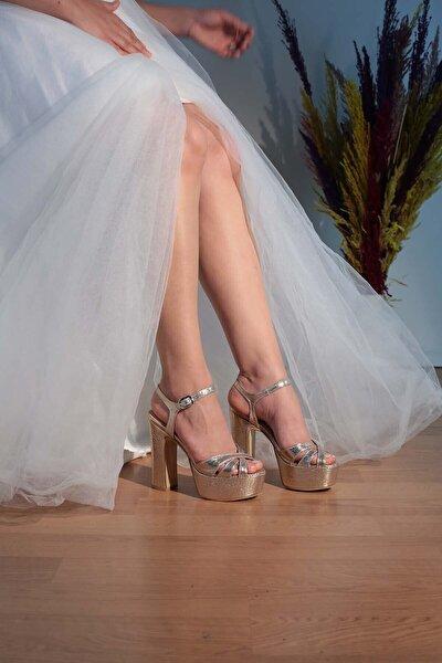 5-9238 13cm Bantlı Abiye Ayakkabı
