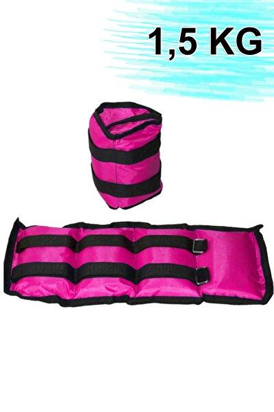 El Ve Ayak Bilek Ağırlığı 2x1 ,5 Kg Kum Torbası Korsesi Ağırlık Kas Güçlendirmek Pilates 1.5 Kg Çift