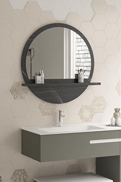 Yuvarlak Sonata Raflı Banyo Koridor Dresuar Konsol Duvar Salon Mutfak Çocuk Yatak Odası Aynası 60cm