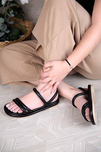 Kadın 2 Biyeli Sandalet Siyah