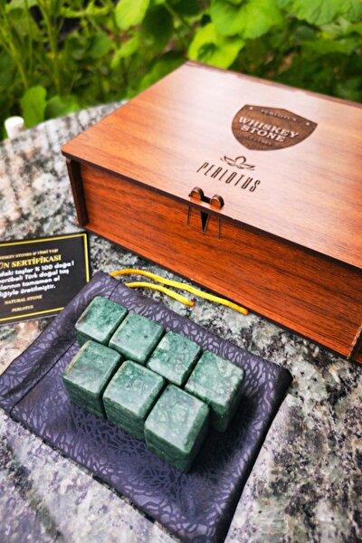 El Yapımı Doğal Granit Mermer 7'li Viski Taşı Babalar Günü Hediyelik