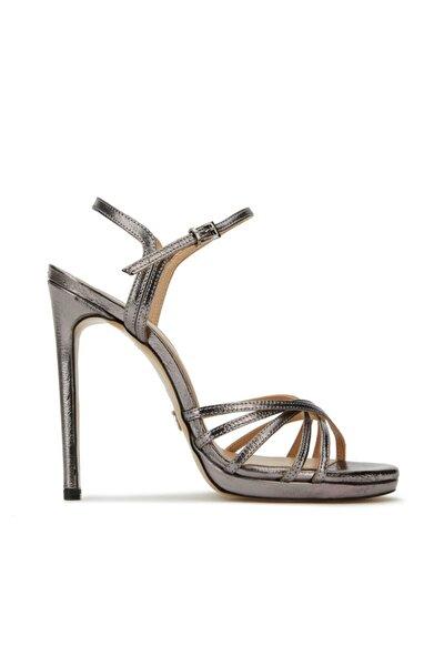 Kadın Silver Deri Topuklu Ayakkabı