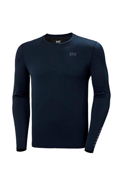 Erkek Mavi Lifa Active Solen  Likra Spor T-Shirt