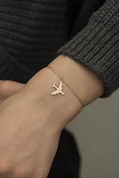 925 Ayar Gümüş Uçak Bileklik Kadın Bileklikler Dn1118