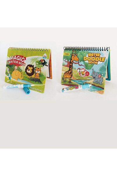 2'li Set Water Painting Sihirli Sulu Kalem Ile Boyama Kitabı Orman Diyarı Ve Orman Hayvanları