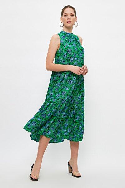 Çok Renkli Desenli Elbise TWOSS20EL0573