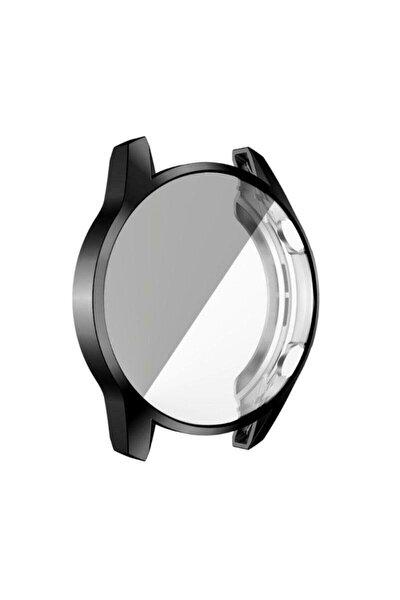 Honor Magic Watch 2 46mm Akıllı Saat Uyumlu Önü Kapalı Tasarım Siyah Silikon Kılıf