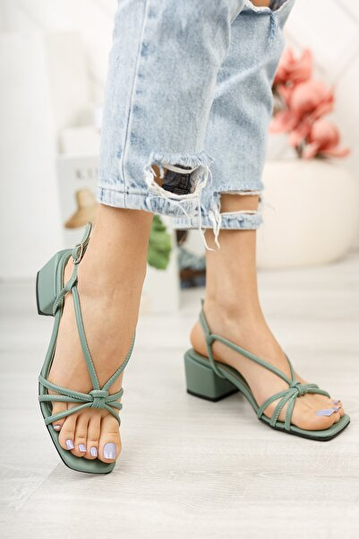 Kadın Yeşil Günlük Sandalet