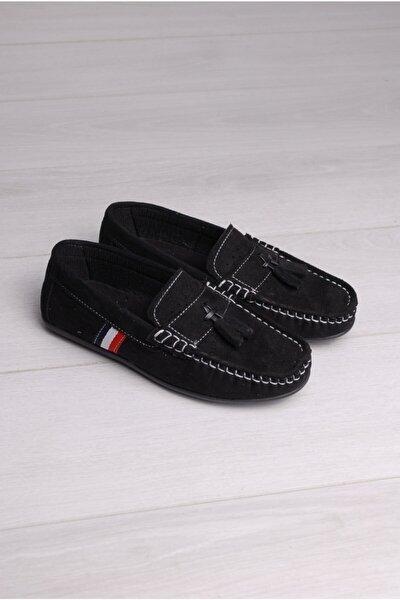 Erkek Çocuk Siyah Püsküllü Ayakkabı