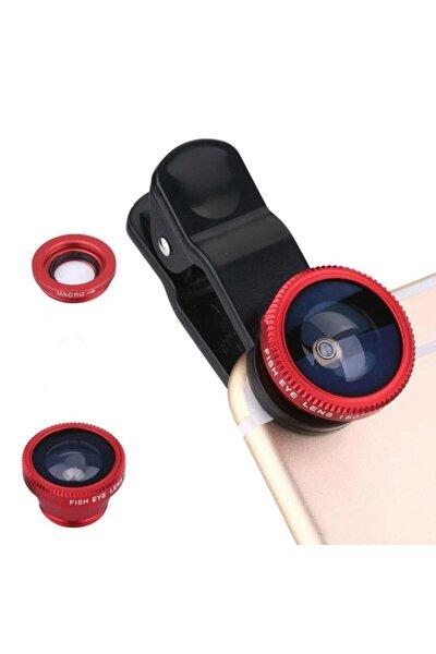 Üniversal 3 Lü Telefon Lensi Balık Gözü&geniş Açı&makro Lens