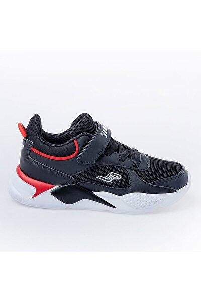 Unisex Çocuk Siyah Günlük Cırtlı Spor Ayakkabı