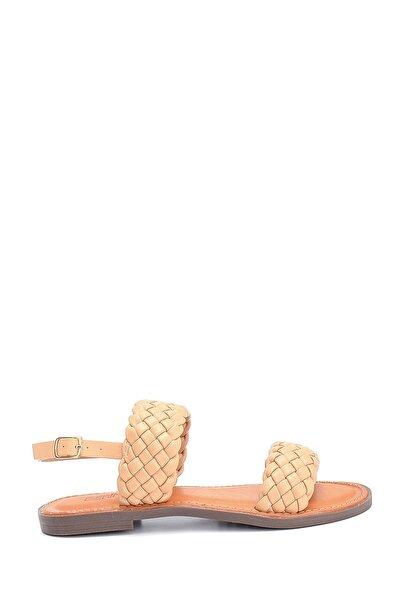 Kadın Örgü Detaylı Casual Sandalet