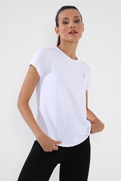 Beyaz Kadın Basic Kısa Kol Standart Kalıp O Yaka T-shirt - 97144