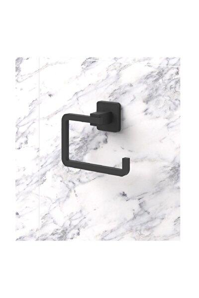 Kare Mat Siyah Tuvalet Kağıtlığı - Kağıtlık