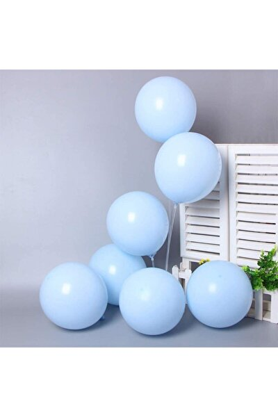 50'li Mavi Makaron Pastel Renk Mat Balon